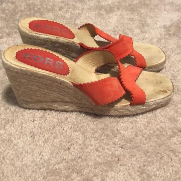 Michael Kors Shoes - Orange Michael kors wedges
